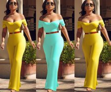 Elegant Off Shoulder Short Sleeve Jumpsuit SHA-6037
