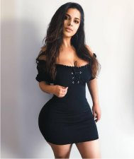 Black Lace Up Slash Neck Mini Dress MYP-8816