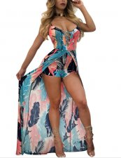Strappy Romper Maxi Dress ZS-Y017