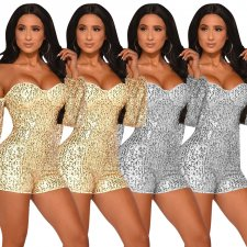 Glitter Sequins Off Shoulder Bodycon Club Playsuits ME-320