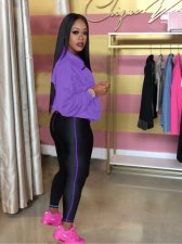 Casual Tracksuit Long Sleeve Zipper Two Piece Sets ARM-8129-1