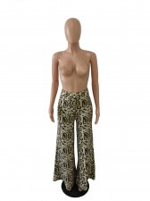 Plus Size Leopard Print Wide Leg Pants SC-696