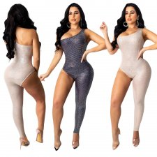 Sexy Sleeveless Asymmetry One Piece Jumpsuits SH-3701