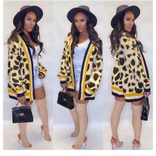 Trendy Printed Pocket Knitted Cardigan Coats MA-288