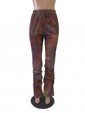 Big Size 5XL Colorful Dot Print Casual Long Pants SC-746