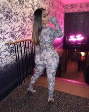 Plus Size Floral Print Long Sleeve Bodycon Jumpsuits SC-737