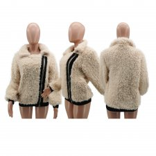 Winter Plush Zipper Short Jacket Coat MTY-6260