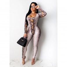 Snake Skin Print Bodysuit And Pants 2 Piece Sets CHY-1208