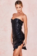 Sexy Shiny Sequin Strapless Bodycon Mini Club Dress SM-028