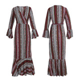 R.Vivimos Womens Summer Long Sleeve Cardigan Sexy Maxi Dresses