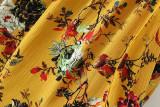 R.Vivimos Women Cotton Long Sleeve Floral Print Casual Swing Short Dresses