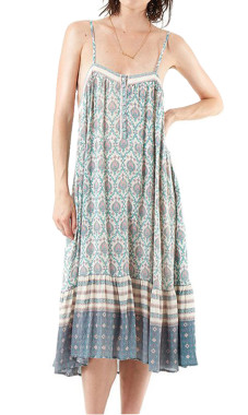 R.Vivimos Women's Summer Spaghetti Straps Print Casual Long Dresses