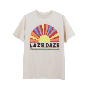 R.Vivimos Women's Summer Short Sleeve Fashion Pattern Print Casual Loose T-Shirt Top
