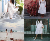R.Vivimos Women's Summer Sexy Openwork Lace Stitching Dresses