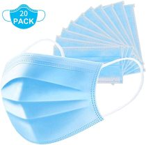 20 Pcs Disposable Medical Face Mask - Anti-Dust Filter, Breathable,Protection and Personal Health Professional, 3 layers of purifying, Cotton