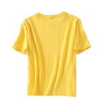 R.Vivimos Womens Summer Short Sleeve Classic Crewneck Casual Letter Tops Tees