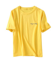 R.Vivimos Womens Summer Short Sleeve Classic Crewneck Casual Letter Tops Tees
