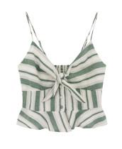 R.Vivimos Women's Summer V Neck Sleeveless Ruffle Peplum Casual Cami Tank Tops