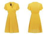 R.Vivimos Women Summer Cotton Short Sleeves V Neck Casual Wrap Mini Dresses