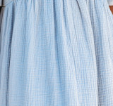 R.Vivimos Women's Linen Fall Long Puff Sleeves Tie Front V-Neck Casual Mini Dress