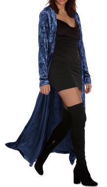 R.Vivimos Women's Long Sleeves Casual Velvet Jacket Open Front Cardigan Coat Outerwear