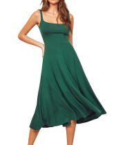 R.Vivimos Women's Summer Cotton Sleeveless A-Line Casual Fit and Flare Midi Flowy Dress with Pockets