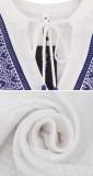 R.Vivimos Womens Summer Fall Linen Long Sleeves V-Neckline Embroidery Casual Tunic Blouses