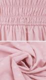 R.Vivimos Women Summer Half Sleeve Cotton Ruffled Vintage Elegant Backless A Line Flowy Long Dresses