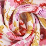 R.Vivimos Women's Summer Cotton Short Sleeves Boho V-Neck Button Up Floral Print Front Slit Midi Dress