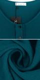 R.Vivimos Women's Cotton Long Sleeves Casual Loose Button Down High Low Hem Swing Mini Tunic Dress