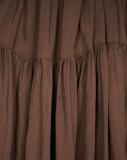 R.Vivimos Womens Fall Long Sleeve Casual Cotton Ruffle Button Down Loose Fit Mini Dress
