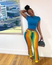 Fashion Colorful Striped Long Pants YM-9126
