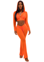 Orange Mesh See Thru Pant Sets 2 Piece CM-108