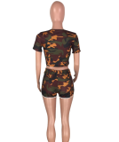 Camouflage Sporty Shorts 2pcs Suits WZ-8049