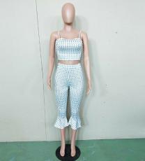 Print Crop Top adn Pant Set BN-9107