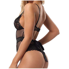 Sexy Deep V Neck Lace Teddy Lingerie YQ-360