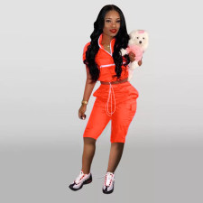 Casual Tracksuit Short Sleeve Two Piece Set OD-8265