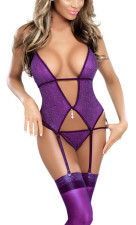 Perspective Sexy Lace Halter Bustier Lingerie YQ-6050