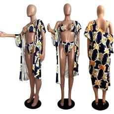 Sexy 3pcs Swimsuit Long Cloak And BIkini Sets MDF-5073