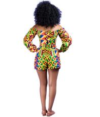 African Print Shorts Set YIS-903