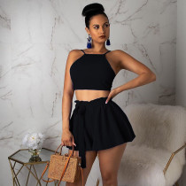 Sexy Crop Tops And Shorts 2 Piece Set BS-1046