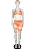 Mesh Perspective Three-piece Set YM-9026