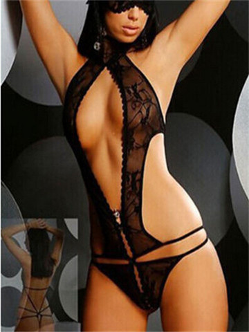 Sexy Hater Lace Black Teddy Lingerie YQ-yq119