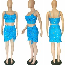 Sexy Sling Crop Tops And  Mini Skirt Two Piece Swimsuit BGN-001