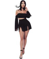 Off Shoulder Skirt Set YIS-701