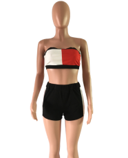 Wrapped Chest Shorts Suits 2 Piece FNN-8098
