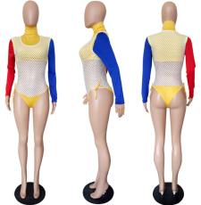 Color Block 3 Piece Set Bodysuit LSL-6166