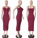 Blue Straps Package Hips Club Dress Plus Size OD-8037