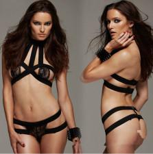 Black CrissCross Sexy Bralettes Lingerie YQ-034