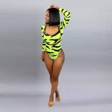 Printed 2pcs Beach Bodysuit Swimsuit ARM-8052